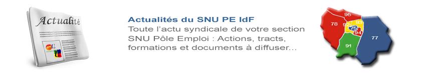 Actus SNU PE IdF