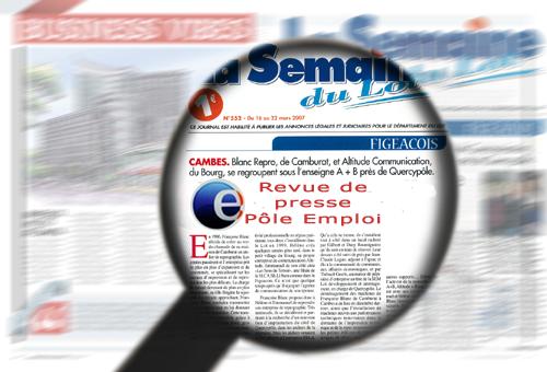 Revue de presse du 29 juillet 2013