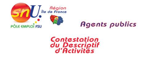 Agent de droit public : contestation du Descriptif d'Activités