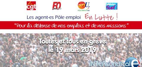 En grève le 19 mars 2019