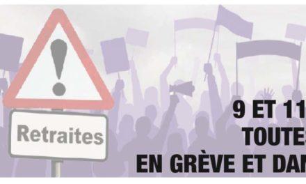 Grève et manifestations nationales, intersyndicales et interprofessionnelles les 9 et 11 janvier 2020