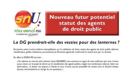 Nouveau futur potentiel statut des agents de droit public