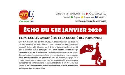 Echo CSE janvier 2020