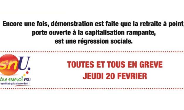 En grève le 20 février