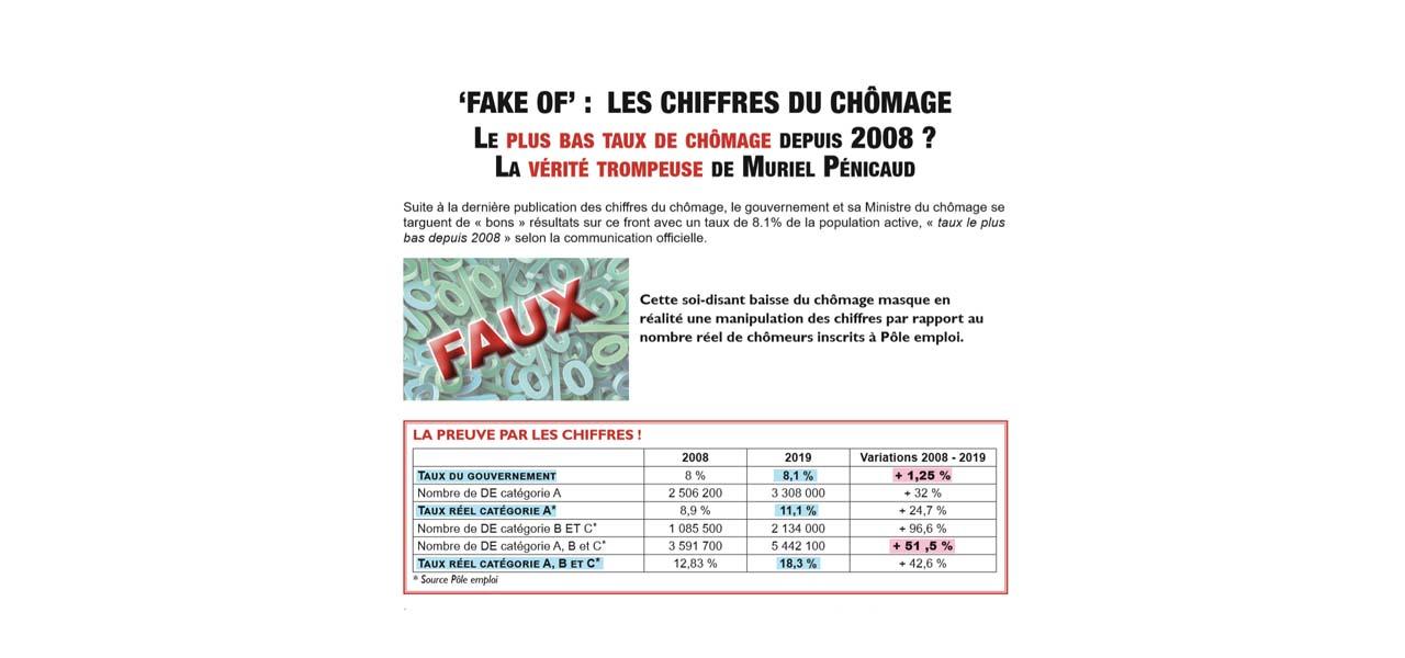 """""""FAKE OF"""": les chiffres du chômage"""