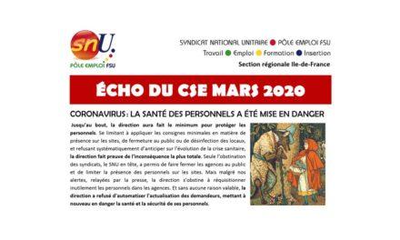 ÉCHO DU CSE MARS 2020