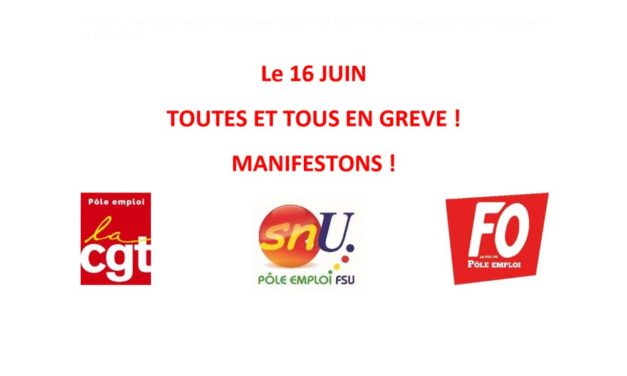 Le 16 juin, toutes et tous mobilisés ! Communiqué intersyndical