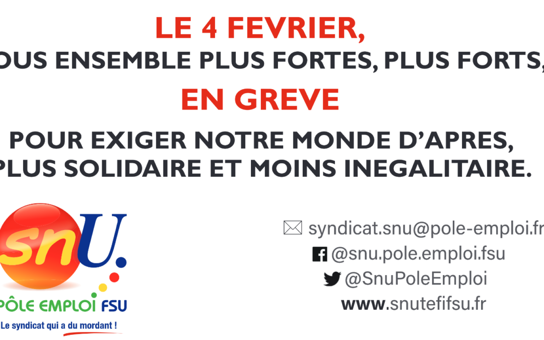 En grève le 4 février