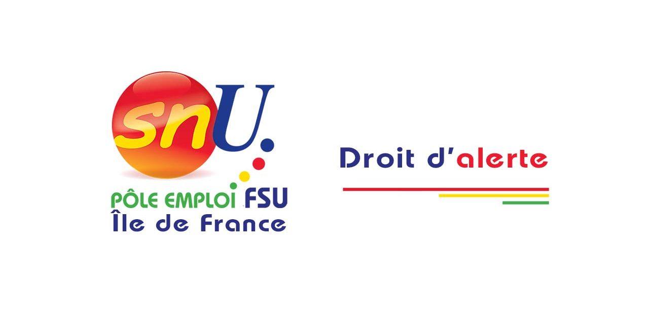 DROIT D'ALERTE DGI AGENTS PUBLICS PÔLE EMPLOI IDF